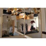 Настенное небьющееся зеркало без подсветки 1200х600 (компл. 2 шт.)