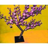 Яблоня Цветущая 192диода, 67см, фиолетовый