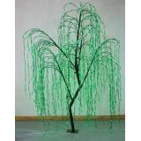 Ива 1440 зеленых диодов, зеленые листья, Н=250см