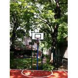 Стойки баскетбольные уличные вылет 0,5м(пара) адаптированы под фанерный щит 1200х900мм