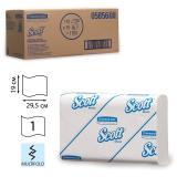 Полотенца бумажные 110 шт., KIMBERLY-CLARK Scott, комплект 16 шт., Slimfold, белые, 29,5х19 см, М-fold, диспенсер 601535, АРТ.5856