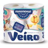 Полотенце бумажное VEIRO (Вейро), 2-х слойное, спайка 2 шт. х 16,3 м, 4п22
