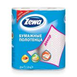 Полотенца бумажные бытовые, спайка 2 шт., 2-х слойные (2х15 м), ZEWA