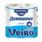 Полотенца бумажные бытовые, спайка 2 шт., 2-х слойные, (2х12,5 м), VEIRO
