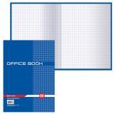 Книга канцелярская BRAUBERG, офисная книга, 80 л., А4, 215х295 мм, клетка, глянцевая обложка, блок офсет, 130065