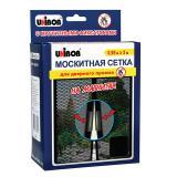 Сетка москитная 0,95 м х 2 м для дверного проема, на магнитах, UNIBOB, черная, европодвес, 49764