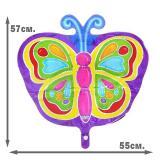 Шар фольгированный Бабочка Яркая