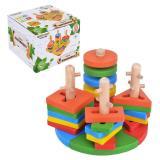 Деревянная игрушка сортер Пирамидки, 4 фигуры, 20 дет.