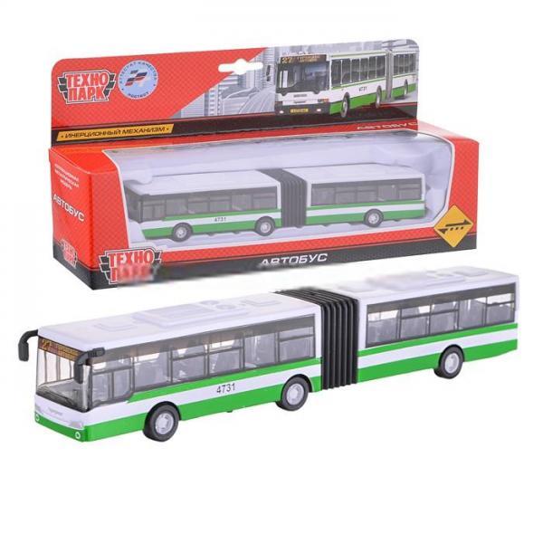 Автобус (с гармошкой) металлический, инерционный